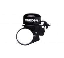 Дзвоник ONRIDE Din хомут 31.8 мм чорний