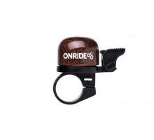 Дзвоник ONRIDE Note хомут 22.2 мм коричневий